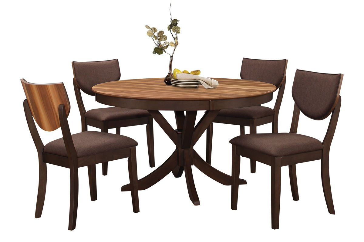Turner Round Dining Table + 4 Side Chairs from Gardner-White Furniture