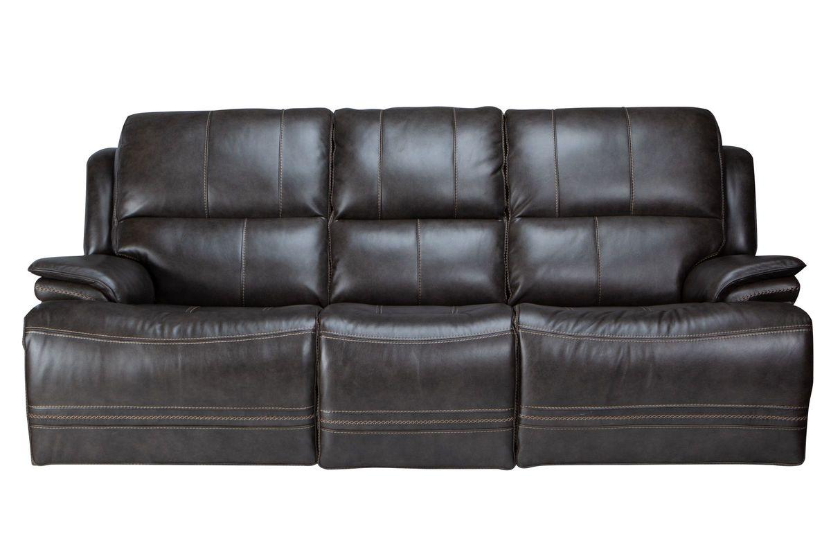 Juno Leather Dual Power Reclining Sofa from Gardner-White Furniture