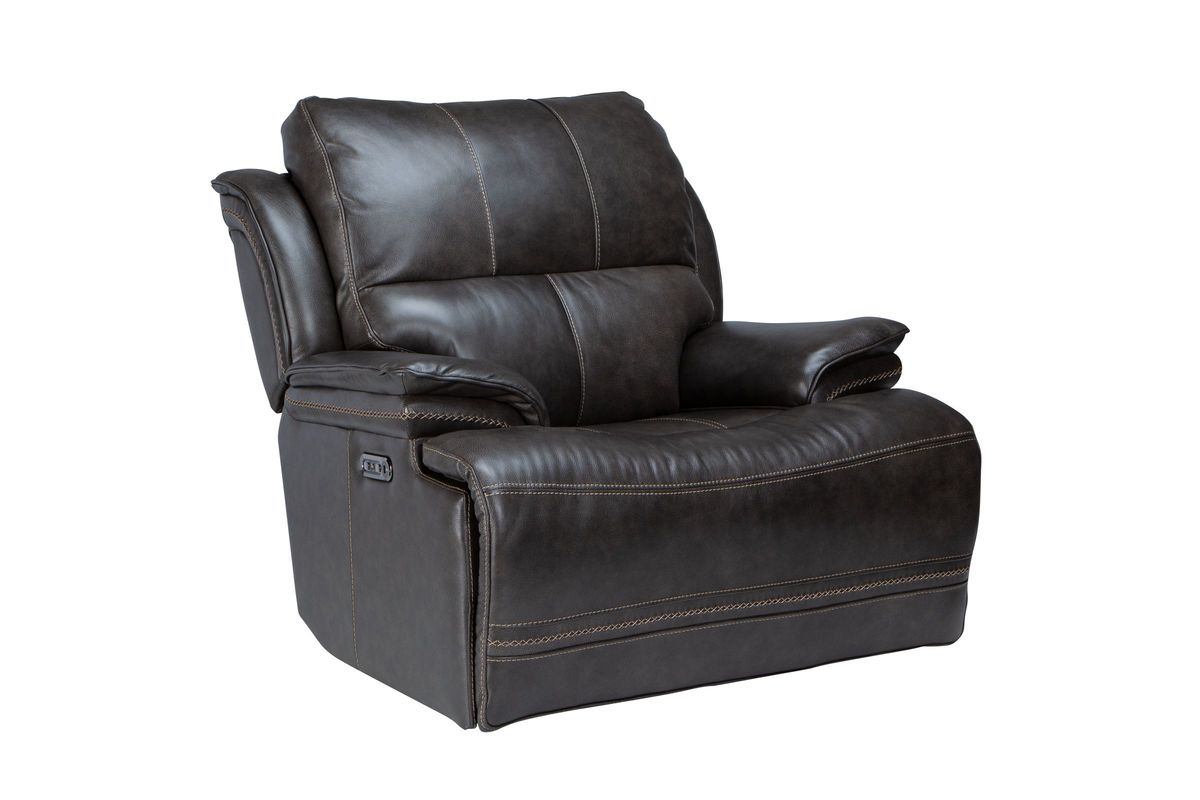 Juno Leather Dual Power Recliner from Gardner-White Furniture