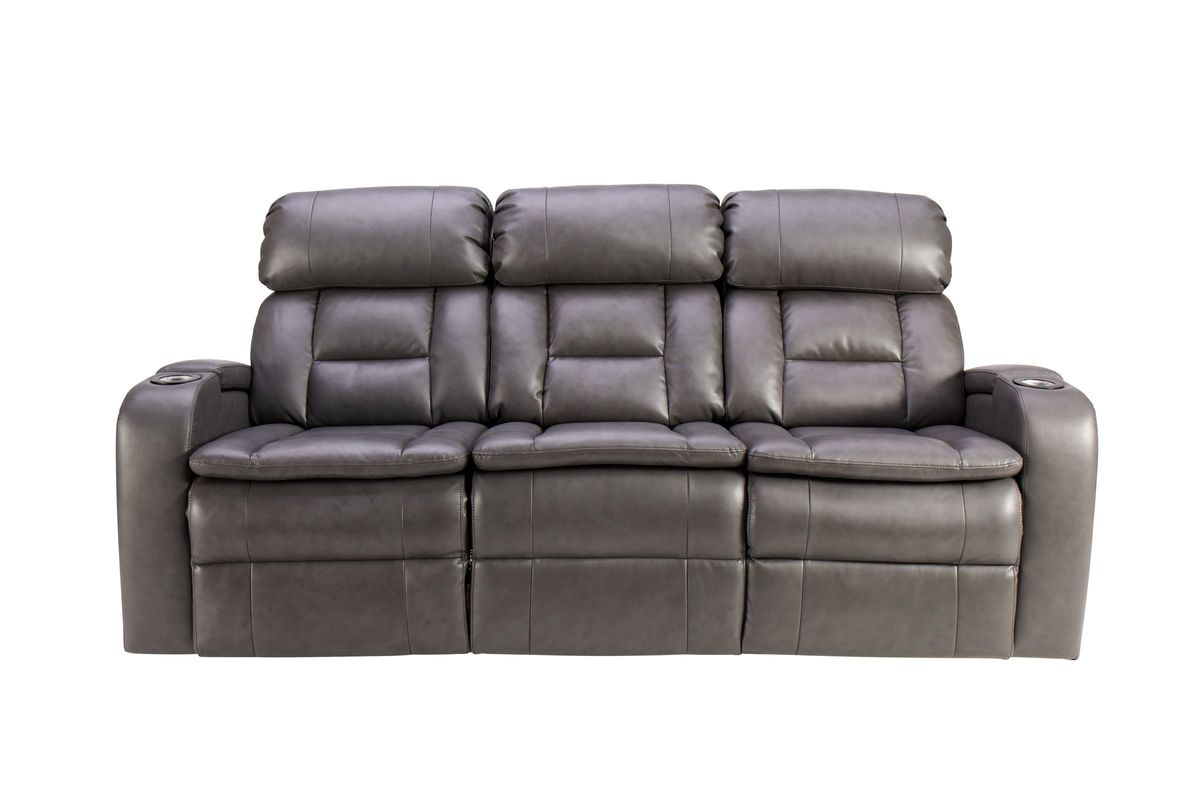 Zenith Dual Power Reclining Sofa with Drop Down Table & LED Lights from Gardner-White Furniture
