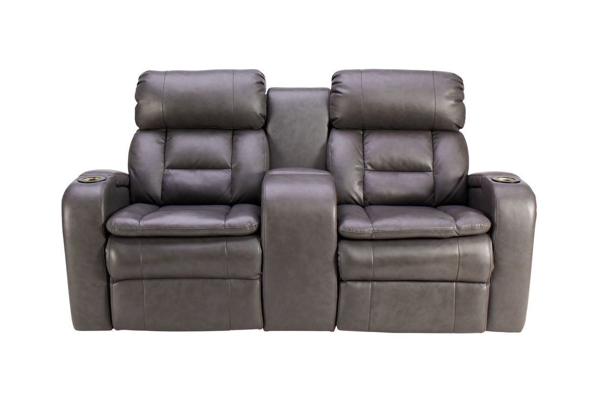 Zenith Dual Power Reclining Console Loveseat with LED Lights from Gardner-White Furniture