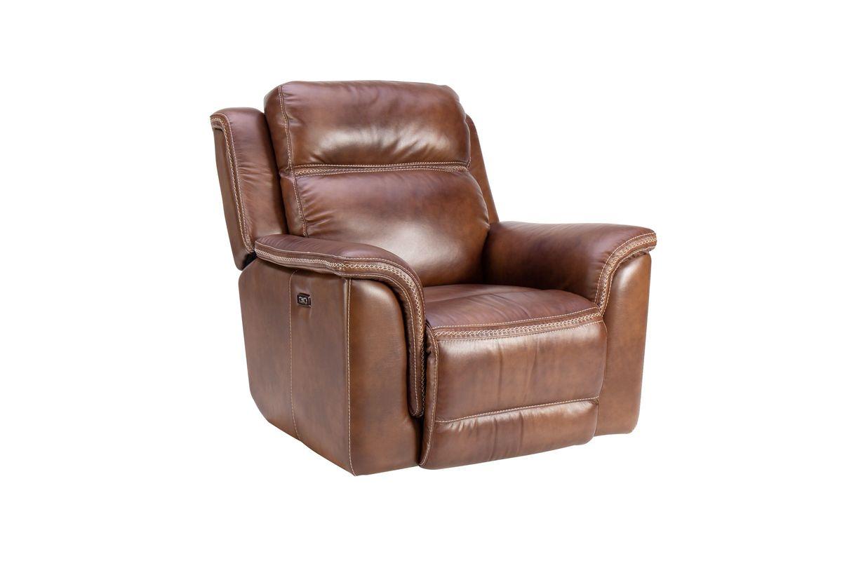 Fargo Leather Dual Power Recliner from Gardner-White Furniture