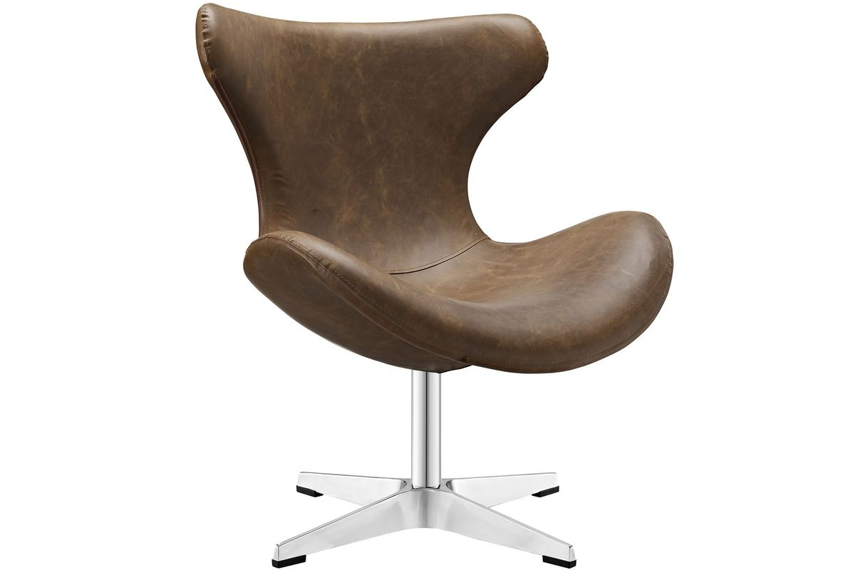 Helm Lounge Chair in Brown from Gardner-White Furniture