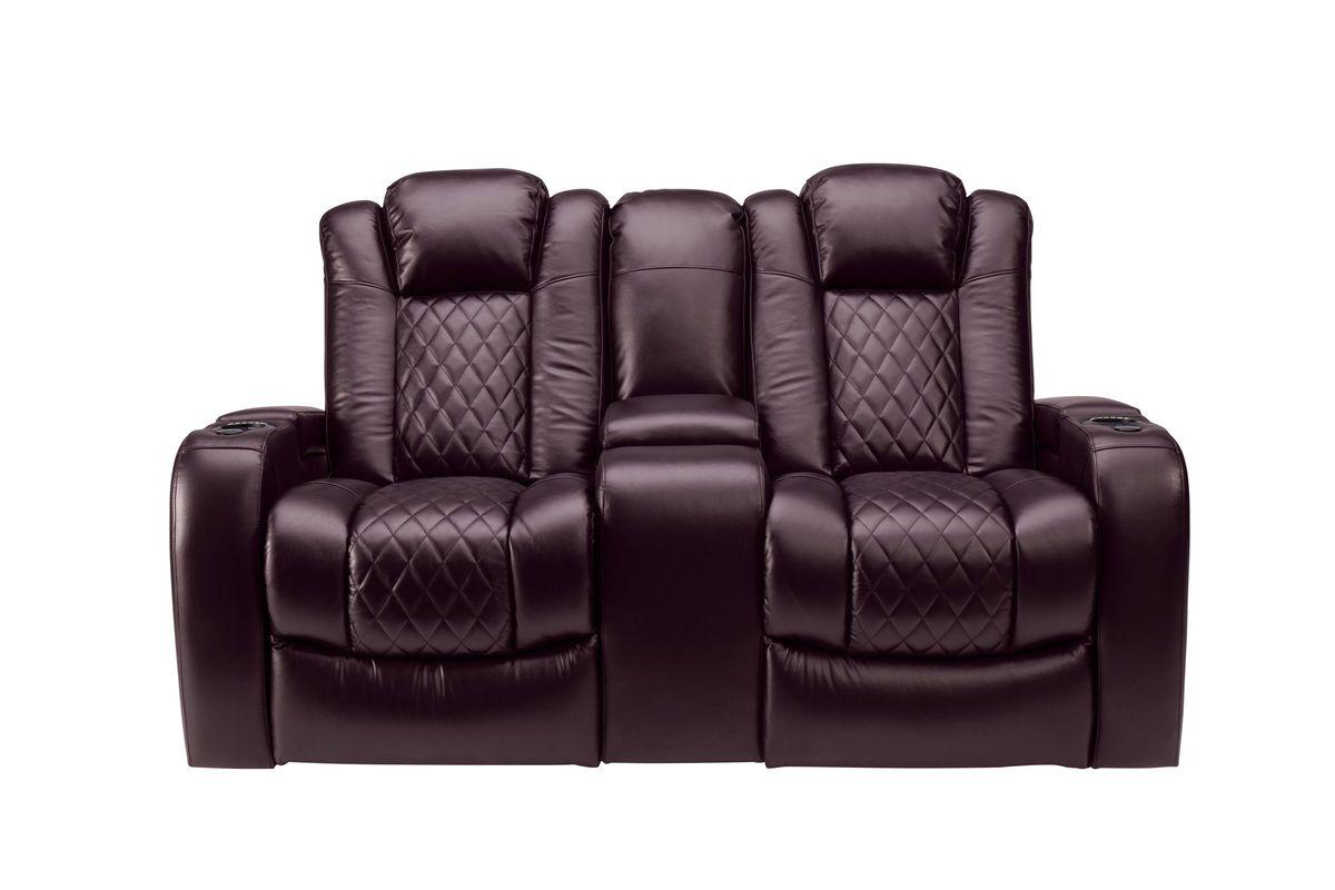 Newton Dual Power Reclining Console Loveseat from Gardner-White Furniture