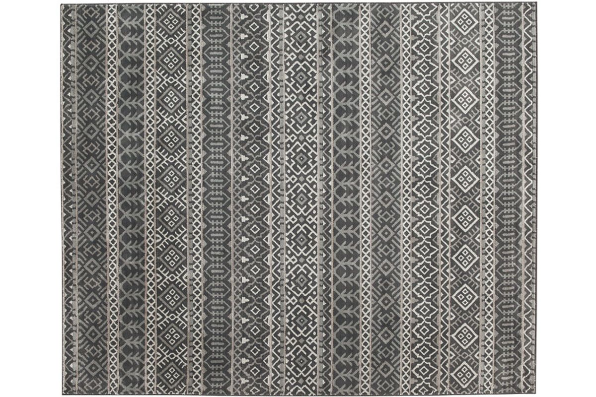 Joachim Black & Tan 5x7 Area Rug by Ashley from Gardner-White Furniture