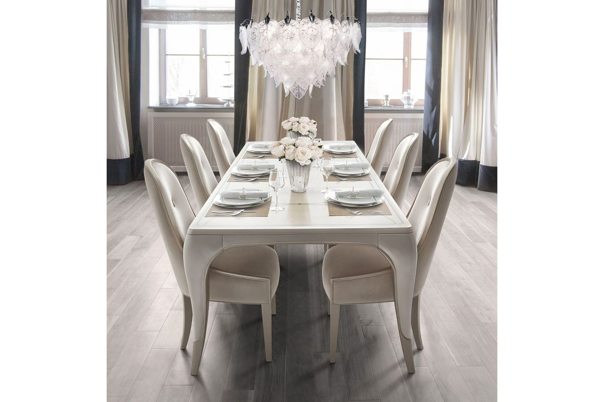 London Dining Table + 6 Side Chairs by Michael Amini x Jane Seymour Living from Gardner-White Furniture