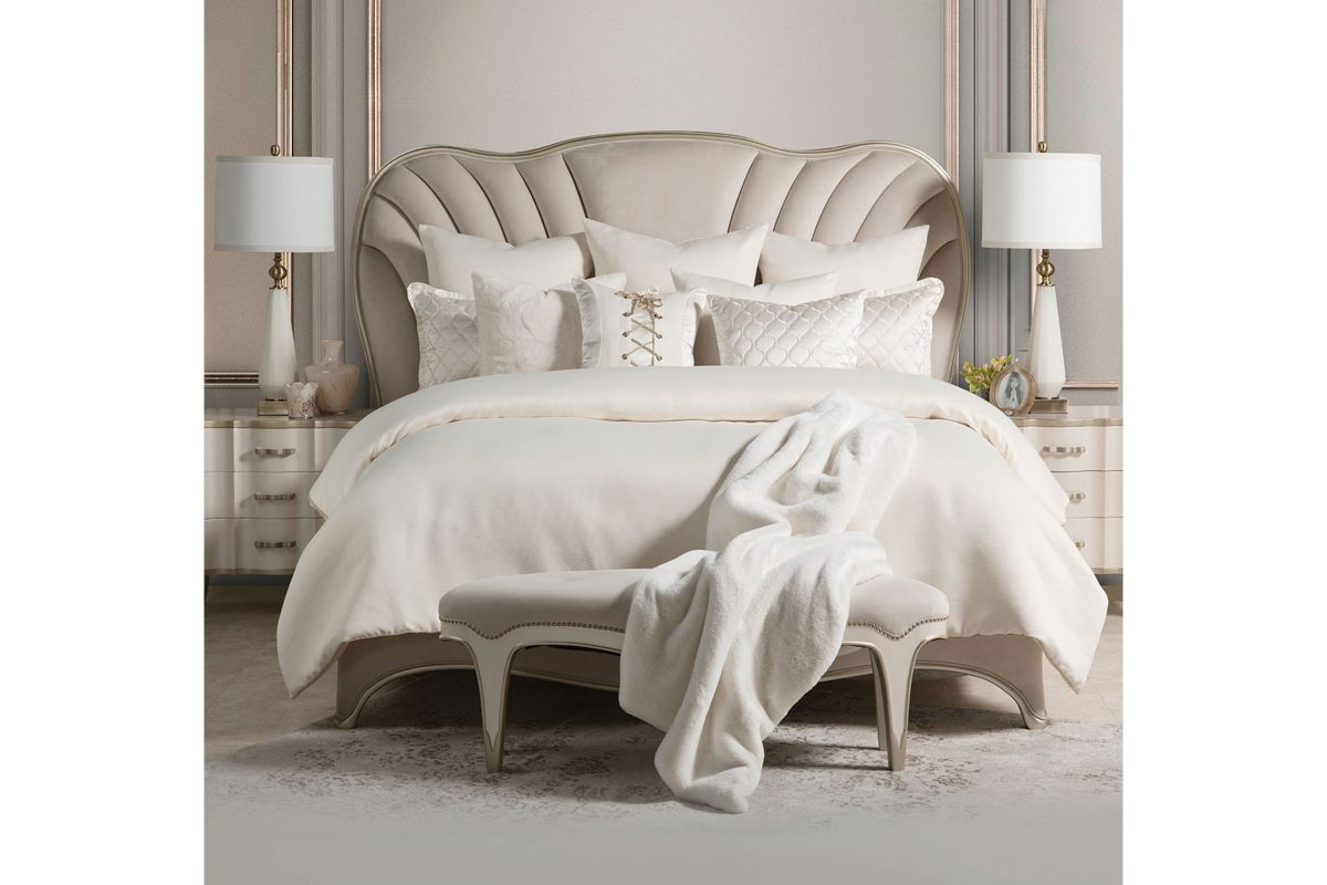 London Bed Bench by Michael Amini x Jane Seymour Living from Gardner-White Furniture