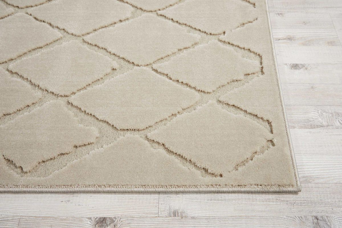Gleam Ivory 9x13 Area Rug by Michael Amini x Nourison from Gardner-White Furniture