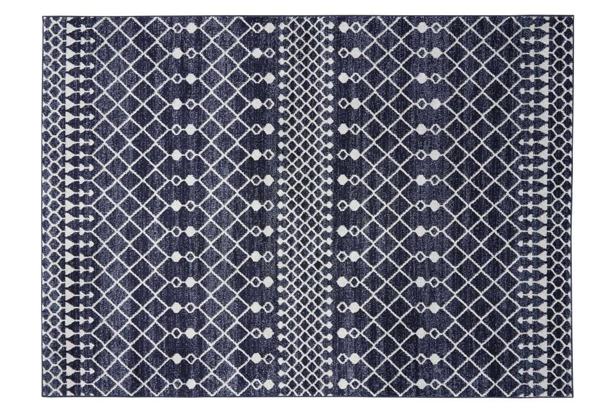 Palermo Navy and Green 5x8 Area Rug from Gardner-White Furniture