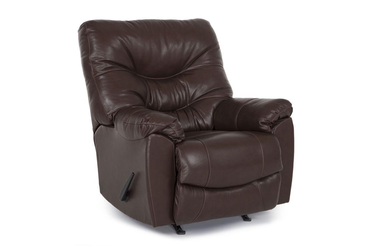 Trilogy Rocker Recliner in Walnut from Gardner-White Furniture