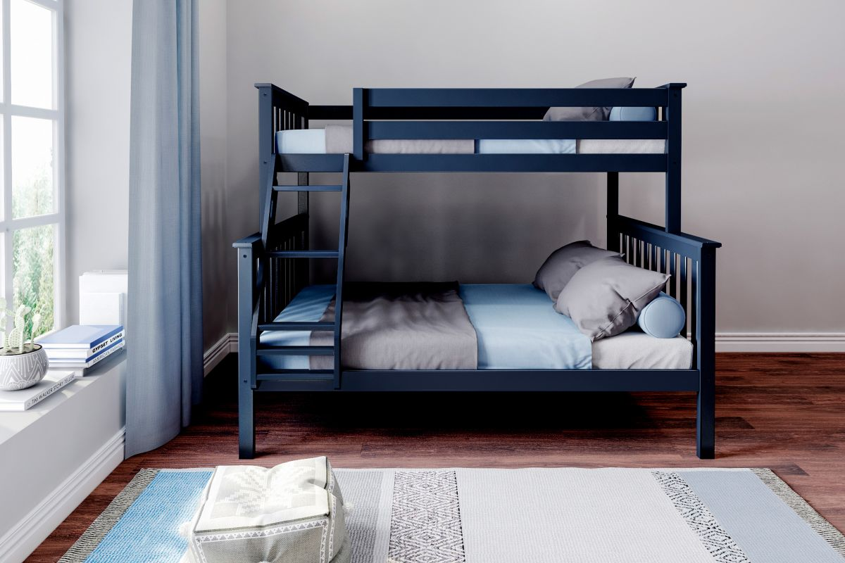 Charlie Blue Twin-Over-Full Bunk Bed from Gardner-White Furniture