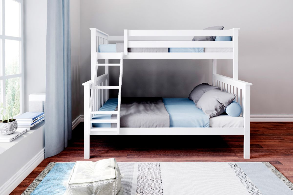 Charlie White Twin-Over-Full Bunk Bed from Gardner-White Furniture