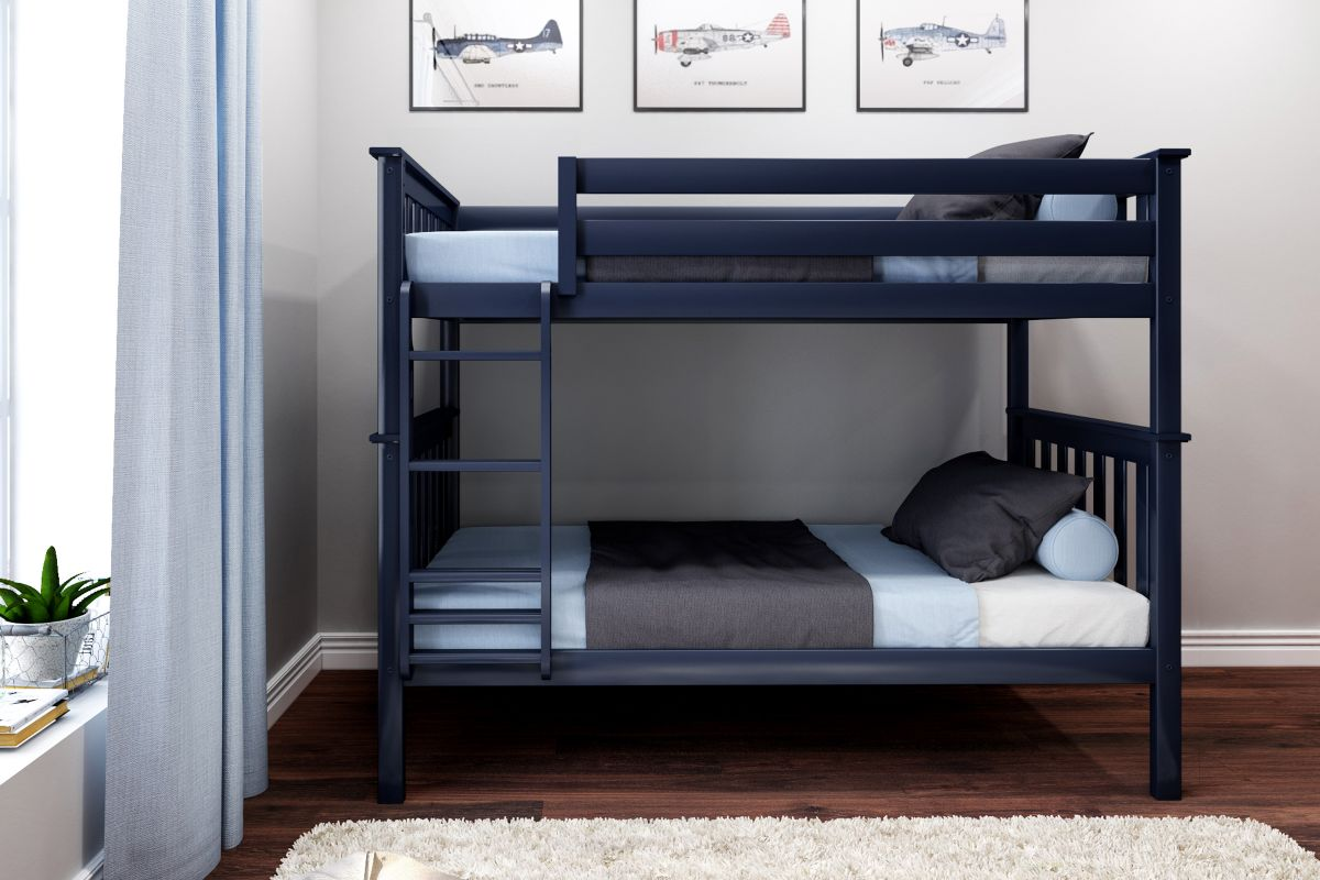 Charlie Blue Twin-Over-Twin Bunk Bed from Gardner-White Furniture