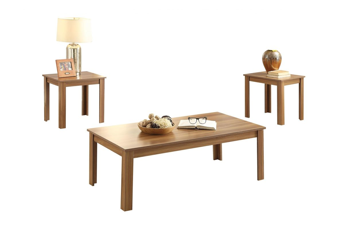 Malena 3-Piece Coffee and End Table Set in Oak by ACME from Gardner-White Furniture